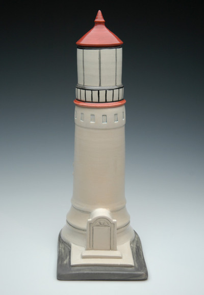 Lighthouse Ceramic Urn