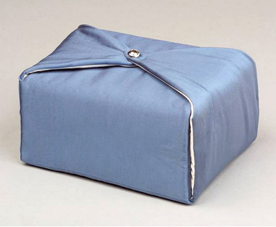 Silk Fabric Cremation Urn in Steel Blue | Silk Urns