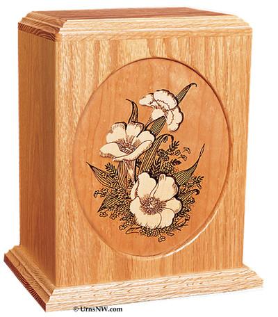 Floral Cremation Urn