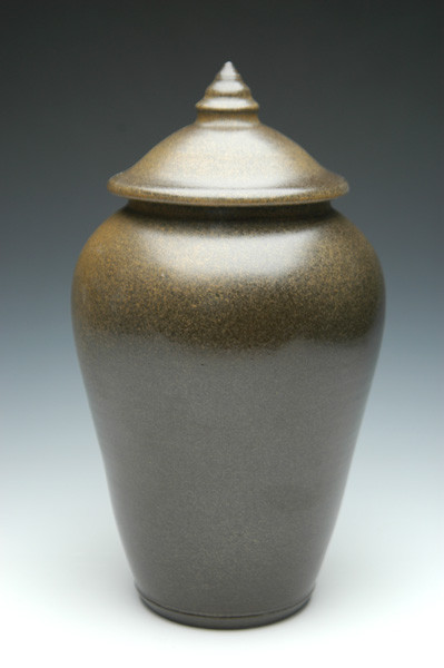 Moss Black Ceramic Urn | Cremation Urns