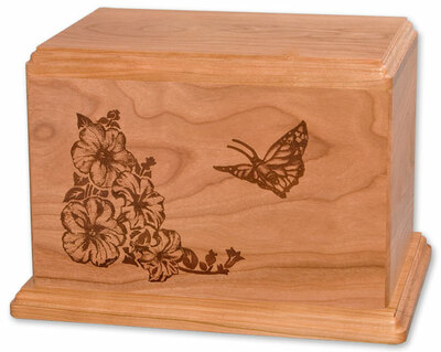 Laser Carved Butterfly Urn