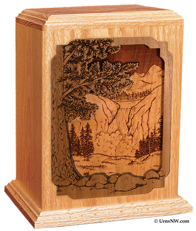 Waterfall Cremation Urn for Ashes