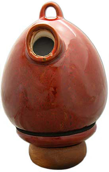Birdhouse Urn in Red Oxide