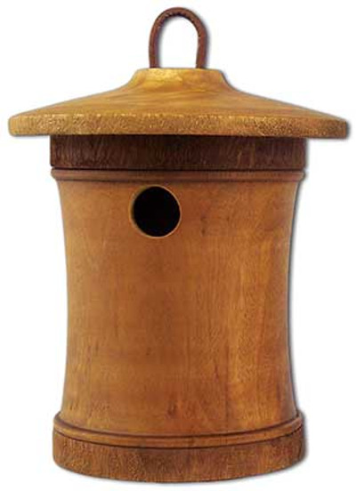 Birdhouse Scattering Urn Turned Birdsong - Mini