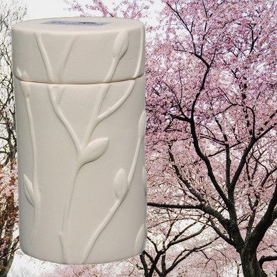 Flowering Cherry Memorial Tree Urn