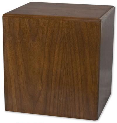 Cube Budget Urn | Walnut