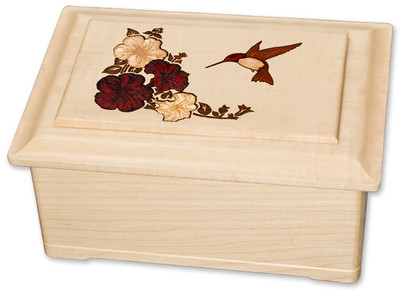 Inlay Hummingbird Urn