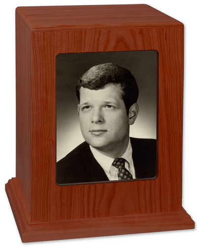 Photo Display Cremation Urn in Cherry