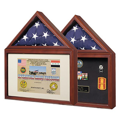 Capitol Burial Flag Case & Memorabilia Display Detail