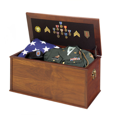 Heirloom Military Keepsake Chest