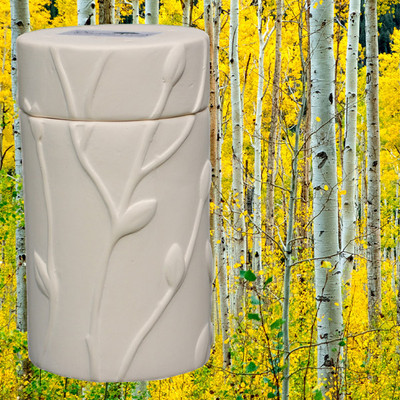 Quaking Aspen Memorial Tree Urn