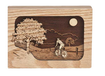 Sharing Keepsake Urn - pictured in Oak wood