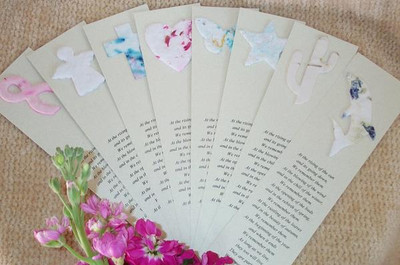 Blooming Remembrance Bookmarks Memorial Keepsakes - 100 Qty