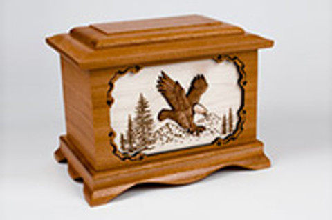 3-Dimensional Inlay Art Wood Cremation Urns Photo Gallery