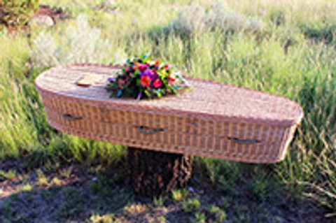 These biodegradable woven caskets aid your natural burial