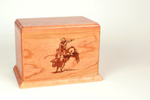 A Rodeo Cowboy's Memorial: Bull Riding Cremation Urn