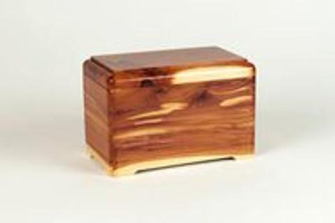 A Lovely Little Cedar Wood Pet Urn