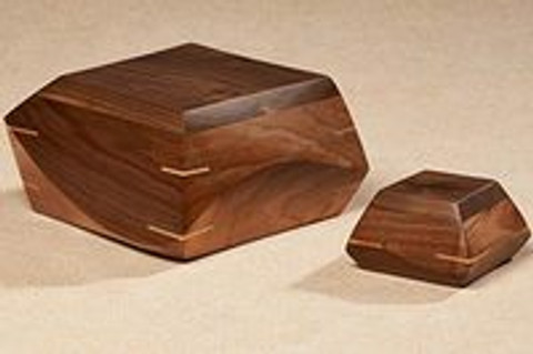 Handcarved Wood Memorial Urns: The Woodsculpt Collection