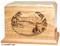 Laser Engraved Wooden Keepsake Urn - Mountain Lake