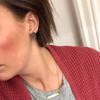 Black Leather Stud Earring