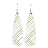 Sage Deco Tear Drop Earring