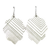 Sage Deco Small Leather Earring