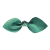 Evergreen Leather Bow Clip
