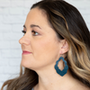 Marine Blue Cut-Out Leather Earrings