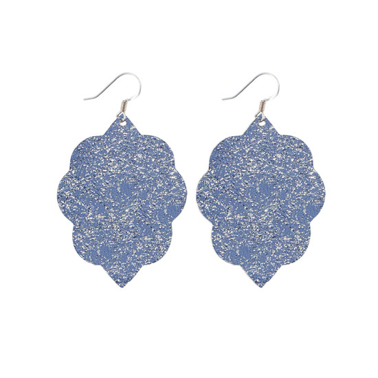 Periwinkle Small Leather Earring