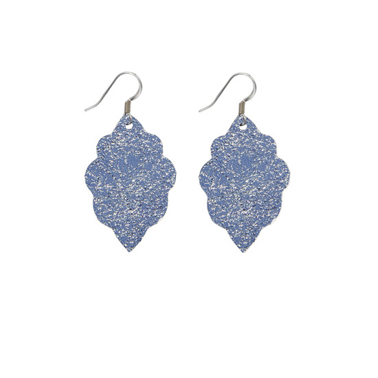 Periwinkle Mini Leather Earring