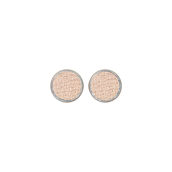 Rose Gold Leather Stud Earring