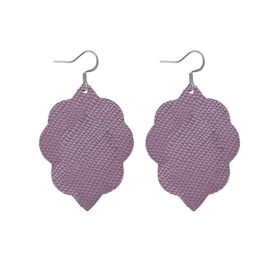 Light Lilac Small Leather Earring
