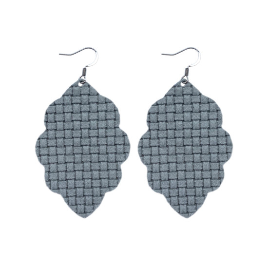 Weave Large Solid Leather Earring