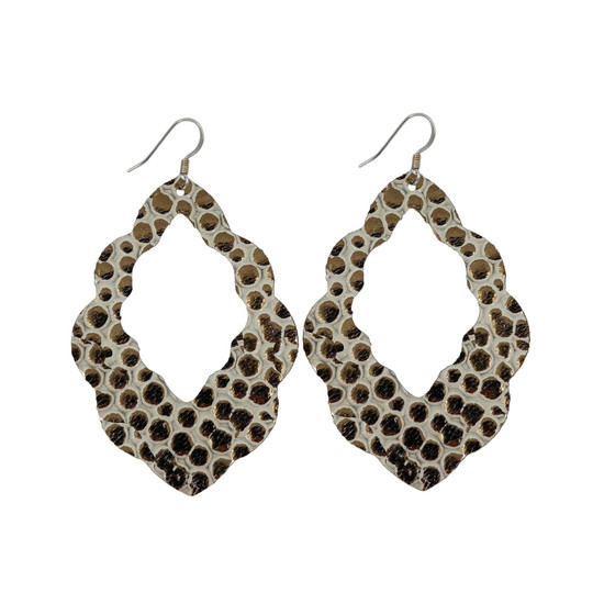 Cobble Stone Cut-Out Leather Earrings