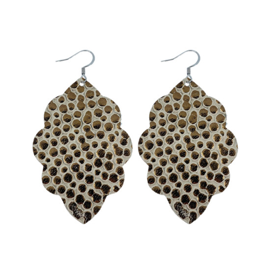 Cobble Stone Large Solid Leather Earring