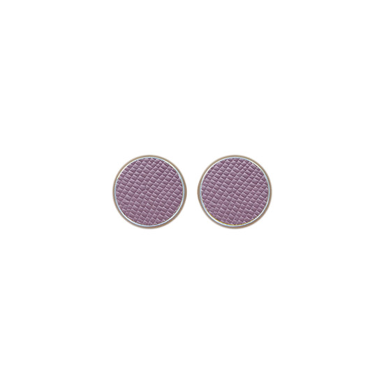 Light Lilac Leather Stud Earring