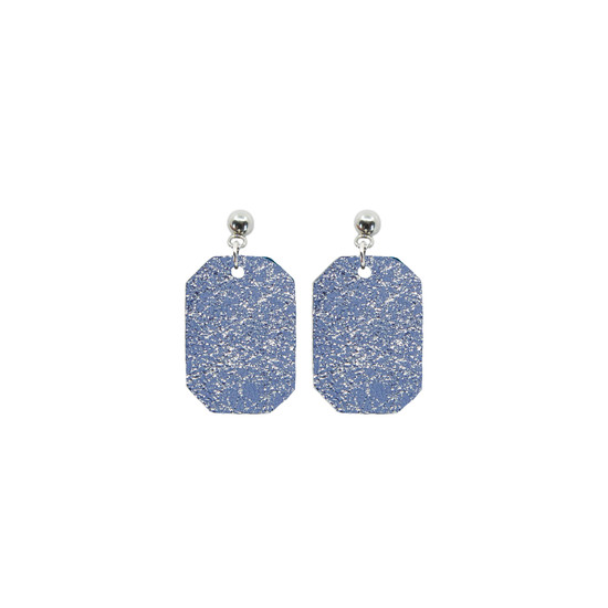 Periwinkle Mini New York Leather Earring