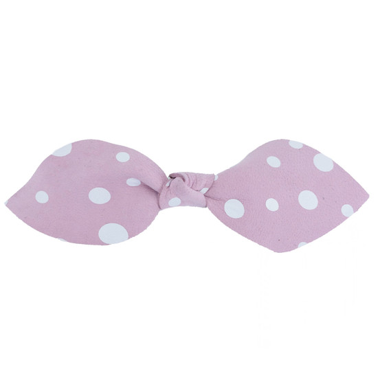 Bubble Gum Leather Bow Clip