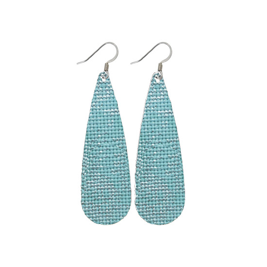 Silver Mint Tear Drop Earring