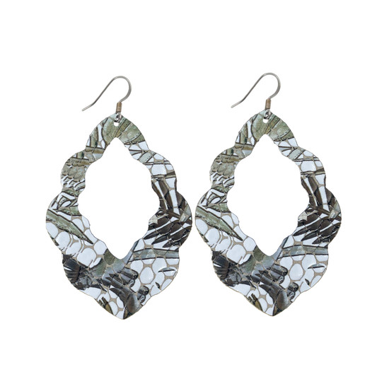 Bronze Tropic Cut-Out Leather Earrings