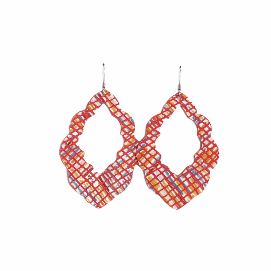 Sunset Cut-Out Leather Earrings