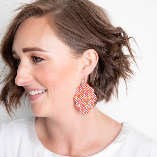 Sunset Large Solid Leather Earring