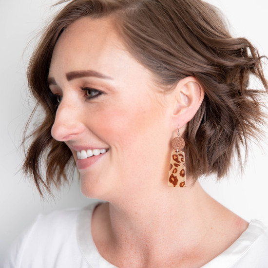 Island Leopard Acrylic Earring