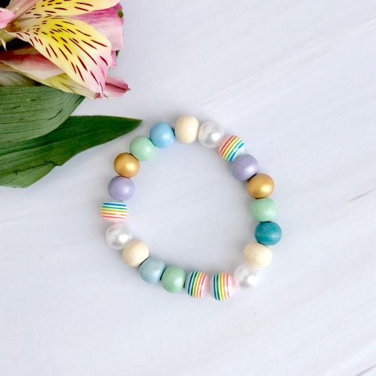 Rainbow Beaded Bracelets (child size)