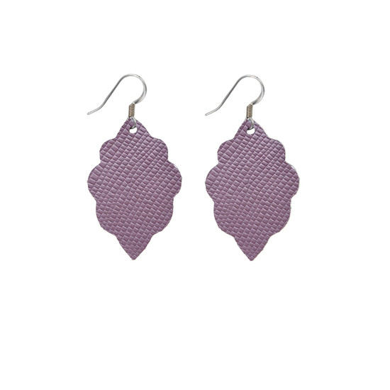 Light Lilac Leather Earring Set