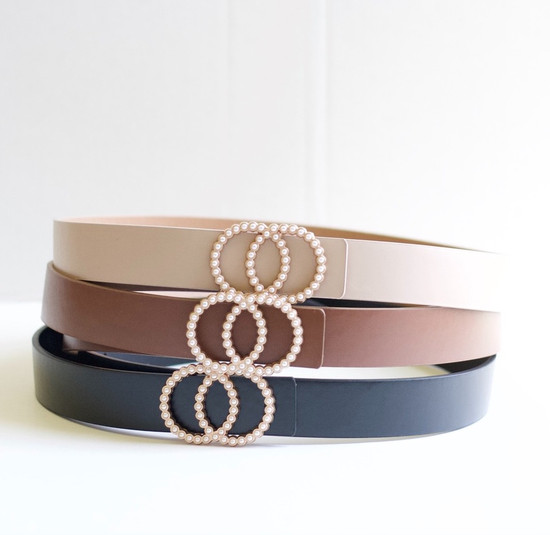 Pearl Buckle Belts