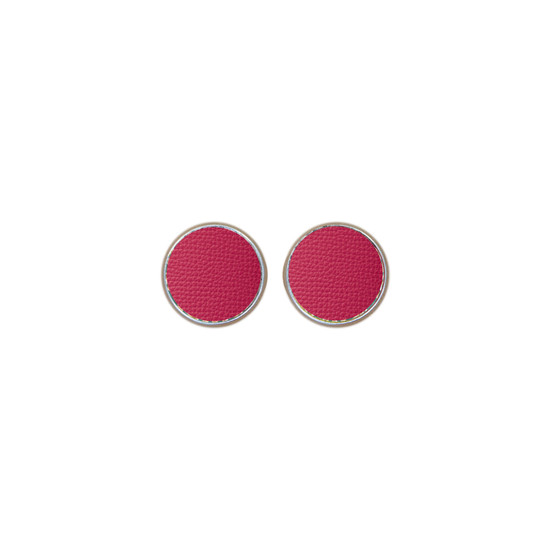 Passion Pink Leather Stud Earring