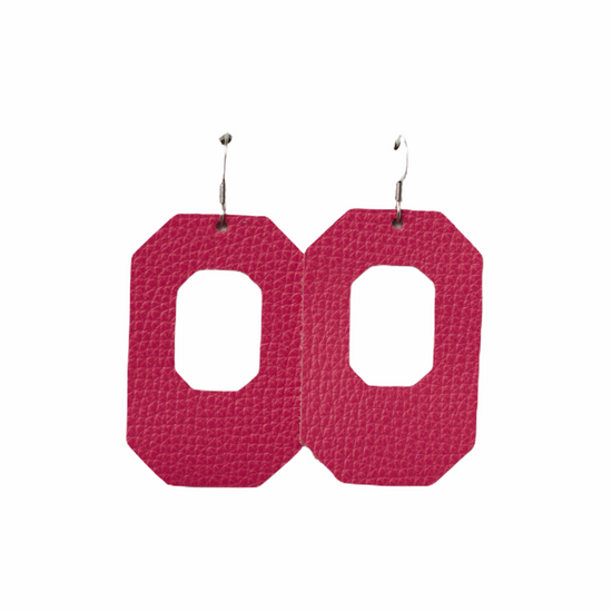 Passion Pink New York Leather Earring