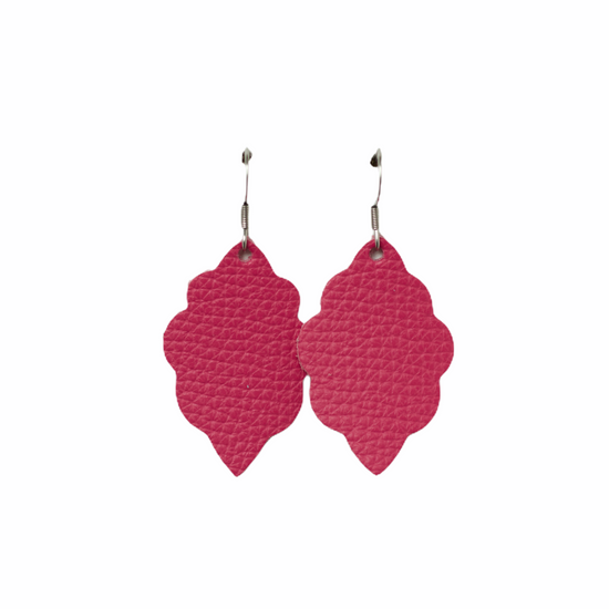 Passion Pink Mini Leather Earring