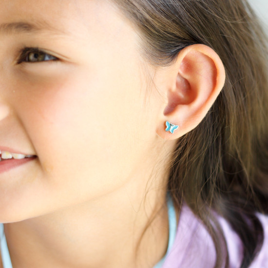 Stud Earring with Covered Back